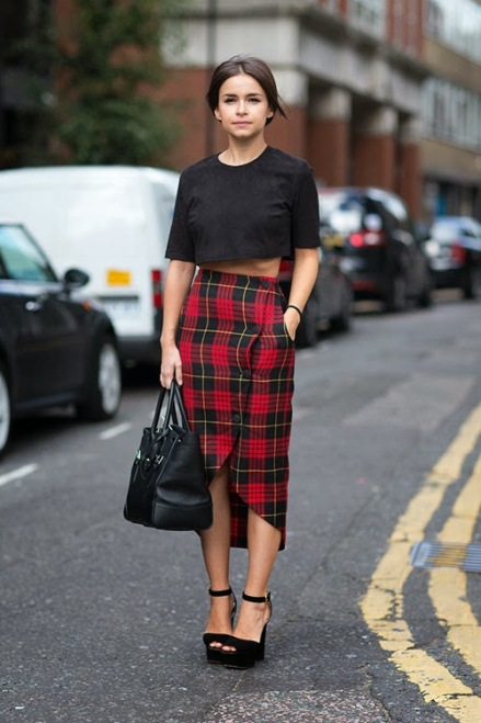 Miroslava-Duma-Plaid-Skirt-LFW-2013